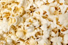 Free Popcorn Background Close Up Stock Image - 33013121