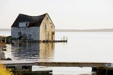 Boat House In Need Of Renovations Royalty Free Stock Photo