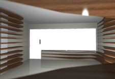 Free Abstract Interior With Empty Wood Shelfs Stock Photo - 33019790