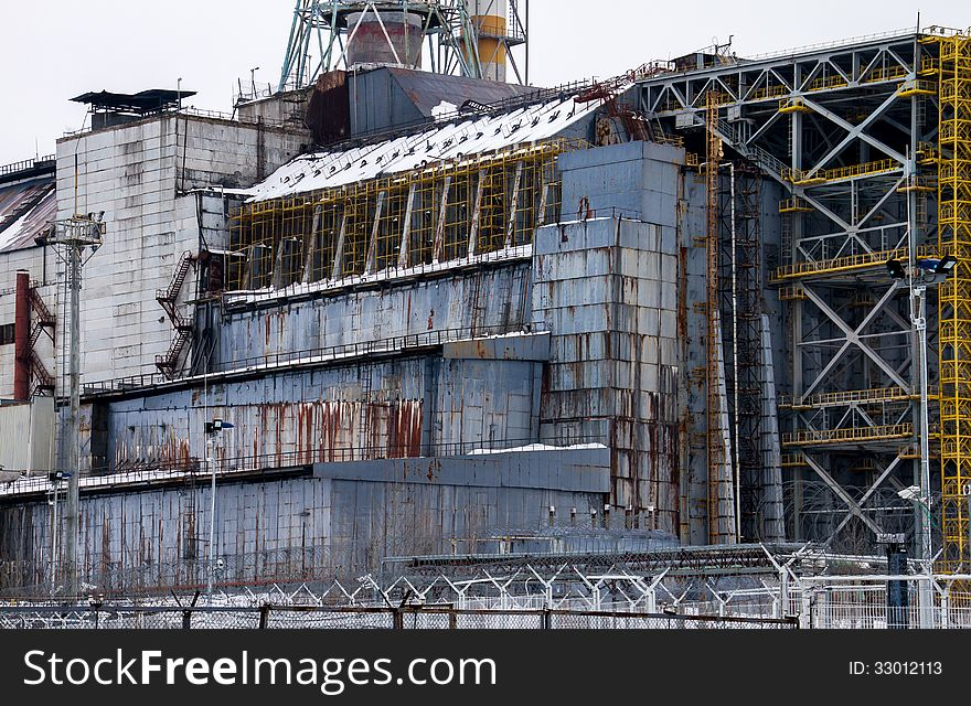 Chernobyl Reactor 4 Sarcophagus Detail - Free Stock Images
