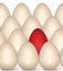 Free Red Egg Concept. Happy Easter Seamless Background Stock Images - 33015814