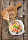 Free Risotto With Vegetables And Bread Stock Photo - 33027730
