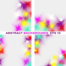 Abstract Colorful Background In Four Variants. Royalty Free Stock Photography