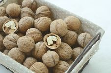 Free Walnut In Wire Basket Royalty Free Stock Photo - 33029115