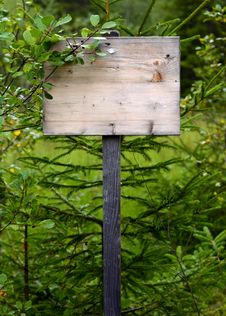 Free Overgrown Wooden Sign Royalty Free Stock Photos - 33029458