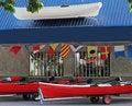 Free Boat Rental Store Royalty Free Stock Photos - 33038318