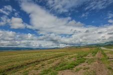 Free Steppe Road Sky Landscape Royalty Free Stock Image - 33030776