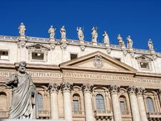 Free St Peters Statue At The Vatican Stock Photos - 33032953