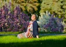Free Relaxing Young Female On The Grass Royalty Free Stock Photos - 33035238