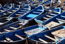 Free Blue Boats Royalty Free Stock Photo - 33038535