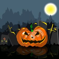 Free Dark Grungy Halloween Background With Orange Scary Royalty Free Stock Photo - 33039425