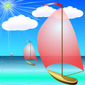 Free Boat On Blue Sea In Summer Stock Image - 33043501