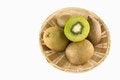 Free Kiwi Fruits In Basket Royalty Free Stock Images - 33044289