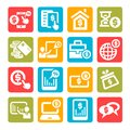 Free Color Finance Icons Set Royalty Free Stock Photos - 33047838