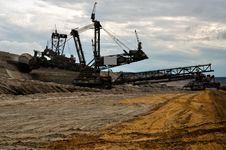Free Open Coast Coal Mine - Excavator Stock Photos - 33040803