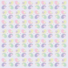Baby Bird Wallpaper Illustration Royalty Free Stock Photo