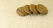Free Cookies On Wood Table Royalty Free Stock Images - 33043159