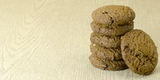 Free Cookies On Wood Table Stock Image - 33043201
