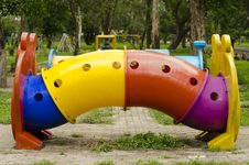 Rides For The Children S Playground Stock Image