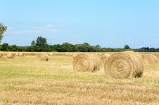 Free Hay Bales Royalty Free Stock Photos - 33043788
