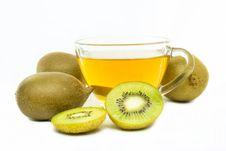 Free Kiwi Flavored Tea Stock Image - 33044331