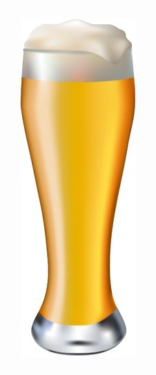Free Beer In Glass Royalty Free Stock Photos - 33045148