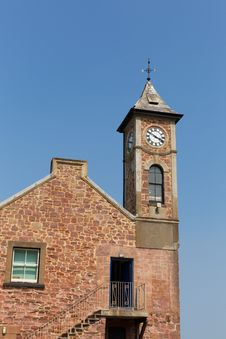 Free Clock Tower With Blue Sky Royalty Free Stock Photos - 33048838