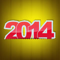 Free New 2014 Year Greeting Card Royalty Free Stock Photography - 33053637