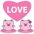 Free Pig In Love Royalty Free Stock Photo - 33057345