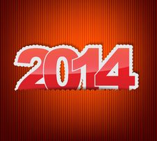 Free New 2014 Year Greeting Card Royalty Free Stock Photos - 33053648