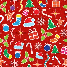 Free Christmas Seamless Pattern Stock Images - 33054174
