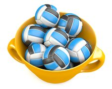 Free Valleyballs In Cup Royalty Free Stock Image - 33054396