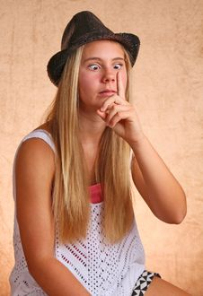 Free Young Girl With Hat Stock Photos - 33056573