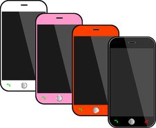 Free Realistic Black Mobile Phones Stock Photo - 33057590