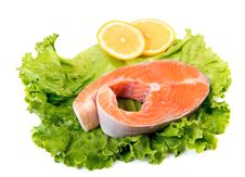 Free Salmon Steak Royalty Free Stock Photos - 33059388