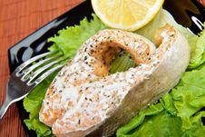 Free Salmon Dinner Royalty Free Stock Photography - 33059927