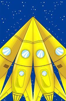 Free Cartoon Rocket Stock Photography - 33063032