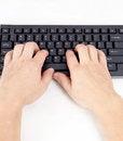 Free Typing On Keyboard. Stock Photo - 33073610