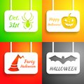 Free Pumpkin, Bat, Hat And Spider Paper Applique Royalty Free Stock Photo - 33075435