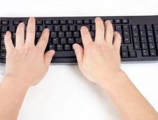 Free Typing On Keyboard. Royalty Free Stock Photos - 33073648