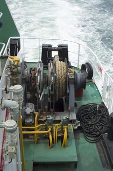 Free Ships Mooring Winch Stock Photography - 33074102