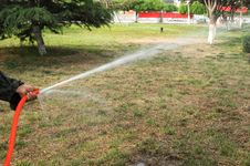 Free Lawn Irrigation Royalty Free Stock Photography - 33074397