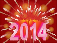 Free New Year 2014 Holiday Background Stock Photos - 33075173