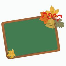 Free School Board With Leaves Royalty Free Stock Photography - 33076587