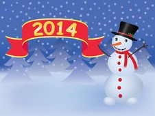 Free New Year 2014 Background Royalty Free Stock Photography - 33077867