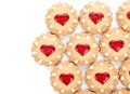 Free Heart Shaped Strawberry Biscuit. Stock Images - 33085464