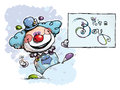 Free Clown Holding An Its A Boy Card Royalty Free Stock Photography - 33085927