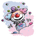 Free Clown Juggling - Baby Colors Royalty Free Stock Photo - 33086785