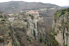 The Meteora In The Winter Royalty Free Stock Photo