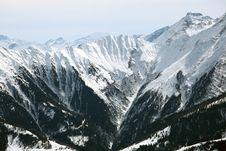 Alps Winter Panorama Stock Photos